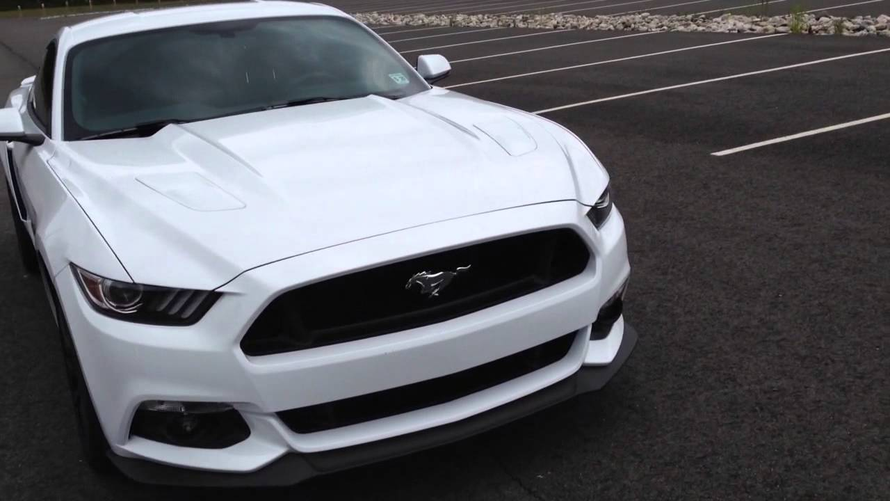 2015 ford mustang gt premium roush side scoops installed performance package oxford white 6 speed - Ford Mustang Gt 2015 White