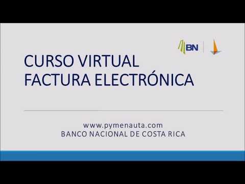 Factura Electrónica - Curso Virtual BANCO NACIONAL