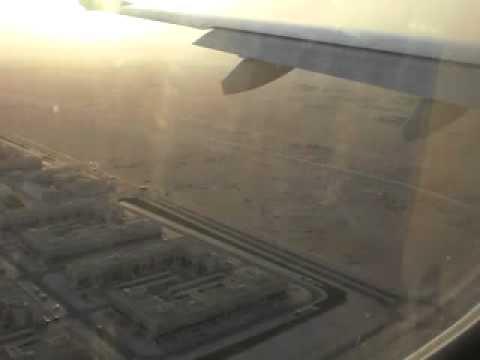 Gulf air embraer 190  landing at Doha international airport