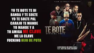 Video Te Bote Remix [LETRA] - Ozuna Ft. Bad Bunny, Casper, Nio García, Darell y Nicky Jam download MP3, 3GP, MP4, WEBM, AVI, FLV Agustus 2018