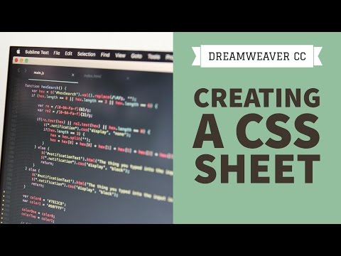 Creating a CSS sheet in Dreamweaver CC [16/34]