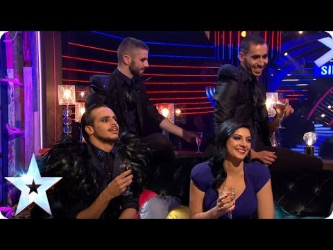 Stephen meets Finalists Lucy Kay and Yanis Marshall, Arnaud & Mehdi   Britain's Got More Talent 2014