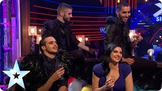 Stephen meets Finalists Lucy Kay and Yanis Marshall, Arnaud & Mehdi | Britain's Got More Talent 2014