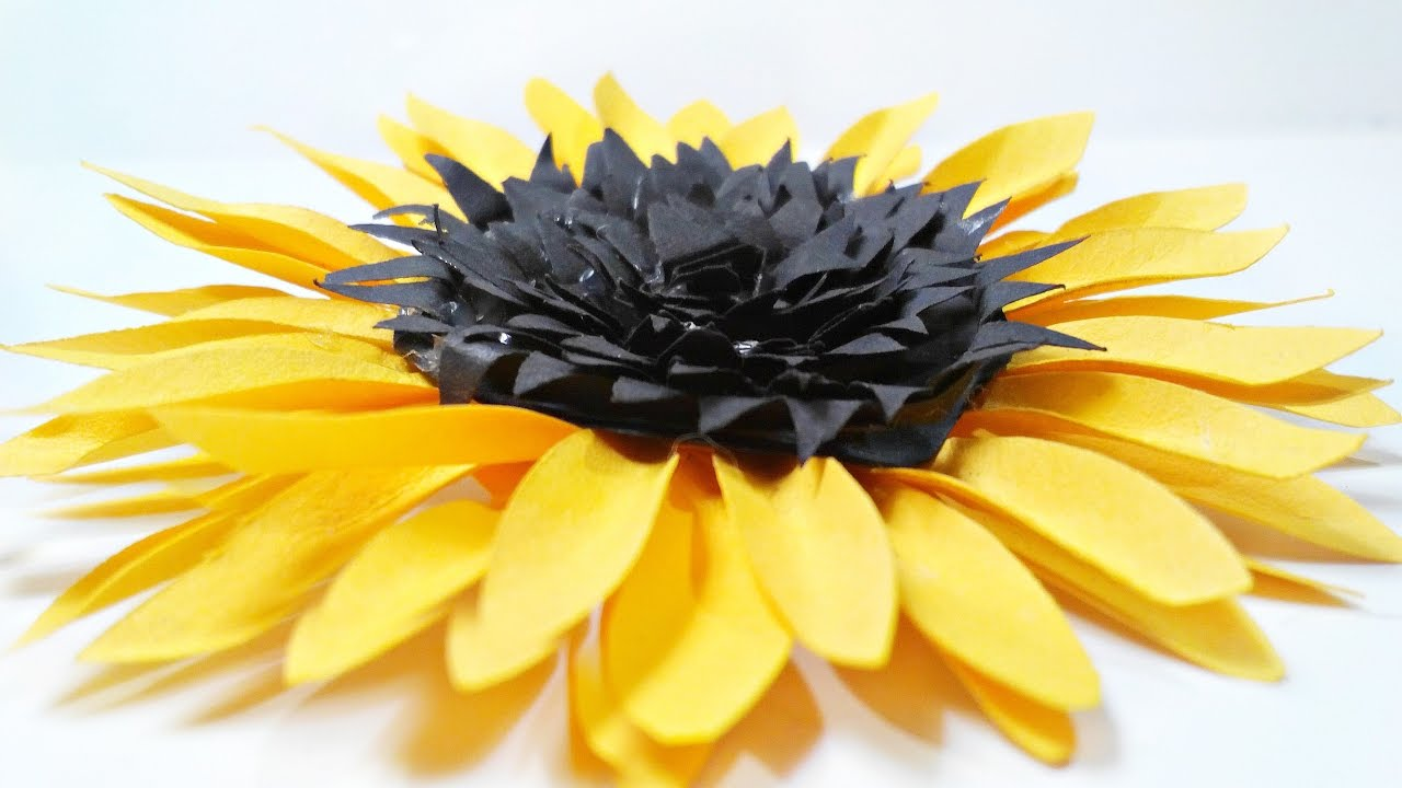 Diy Paper Sunflower Flower For Wall Backdrop Decoration Arts And Crafts Flowers Easy Kids