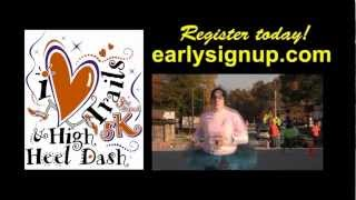 This Video Previously Contained A Copyrighted Audio Track. Due To A Claim By A Copyright Holder, The Audio Track Has Been Muted.     3rd Annual Pineville 'i Heart Trails' 5k Walk/run & High Heel Dash