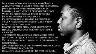 Repeat youtube video Kendrick Lamar - The Art Of Peer Pressure (Lyrics HD)