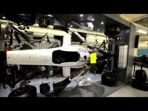 Jenson Button's F1 car at Telford university centre