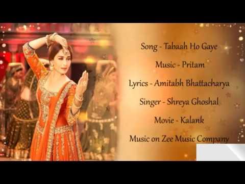 Lyrical: Tabaah Ho Gaye Lyrics | Shreya Ghoshal | Kalank Songs | Pritam L Arijit L Music Hub