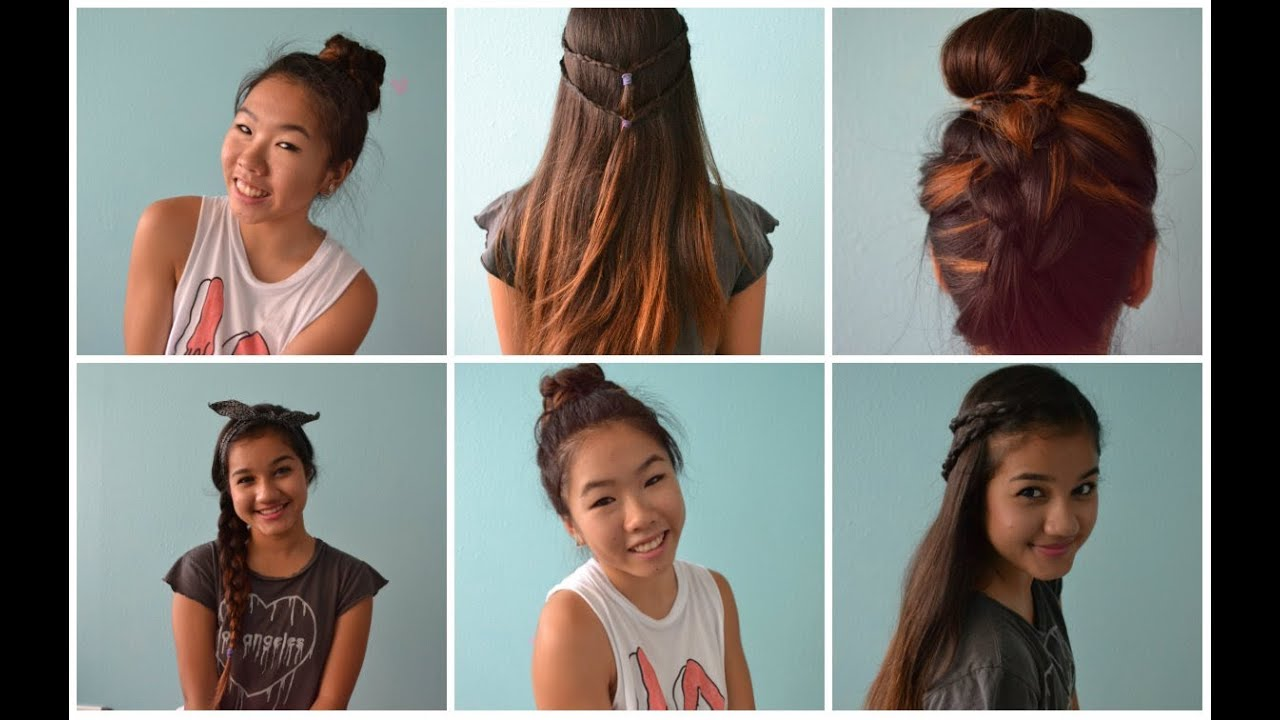 4 Back to School Heatless Hairstyles! ♡ - YouTube
