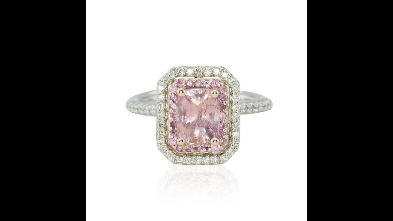 Pink Diamond Double Halo Ring