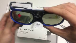 Unboxing 3D Glasses from XGIMI H1 projector