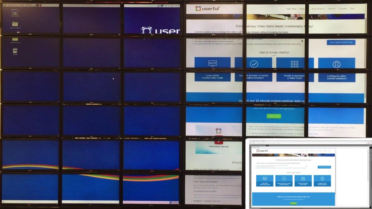 Video Wall Interactivity Tools: Userful Interactive Viewer