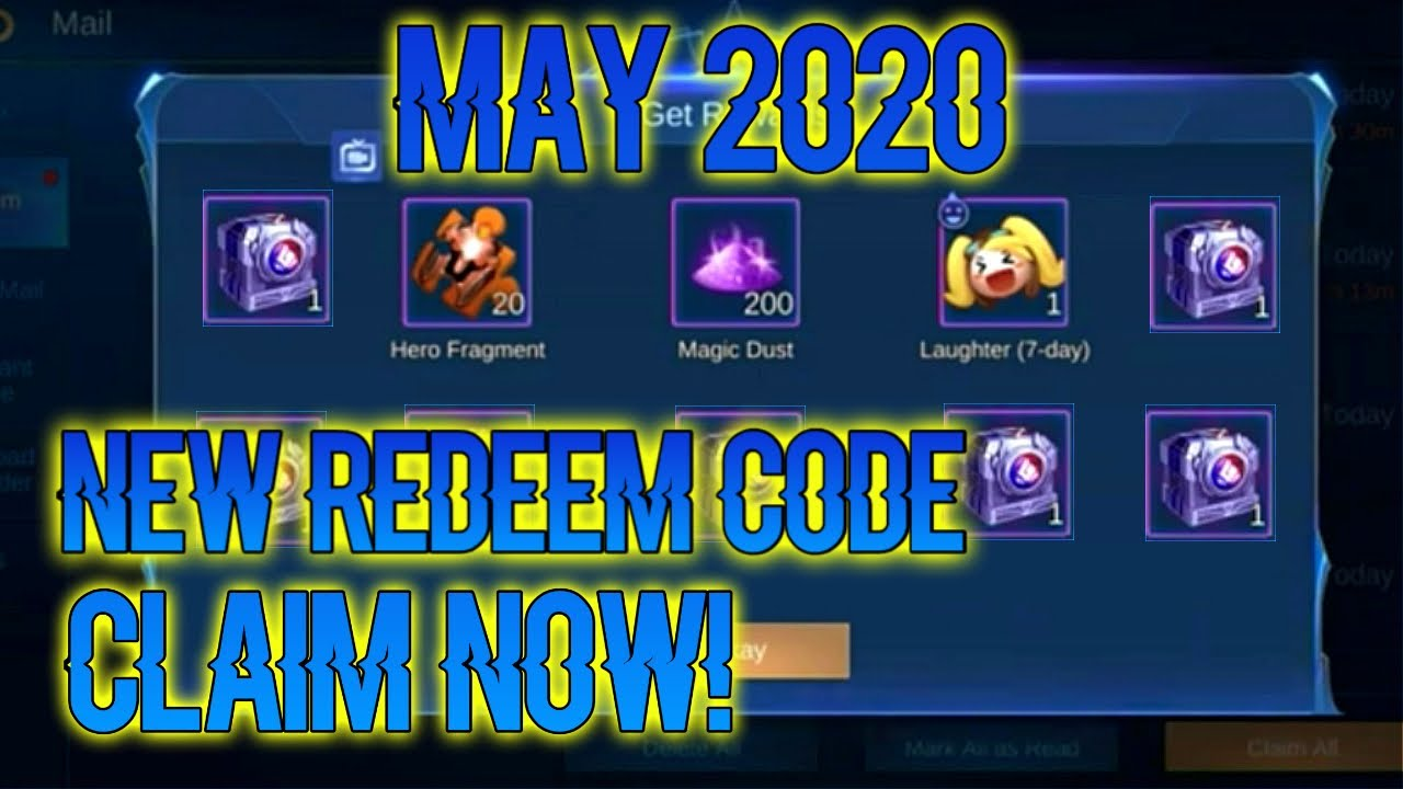 MAY 2020 NEW REDEEM CODE || MLKINGS OFFICIAL ||Mlbb - YouTube