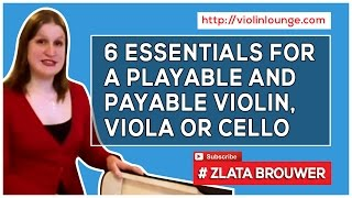 [6 Essentials for a Playable and Payable Violin, Viola or Cello] Introduction