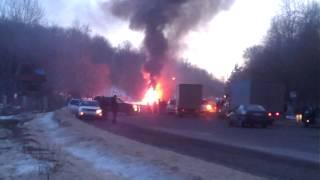 На трассе Оргеев-Кишинёв сгорел грузовик с косметикой
