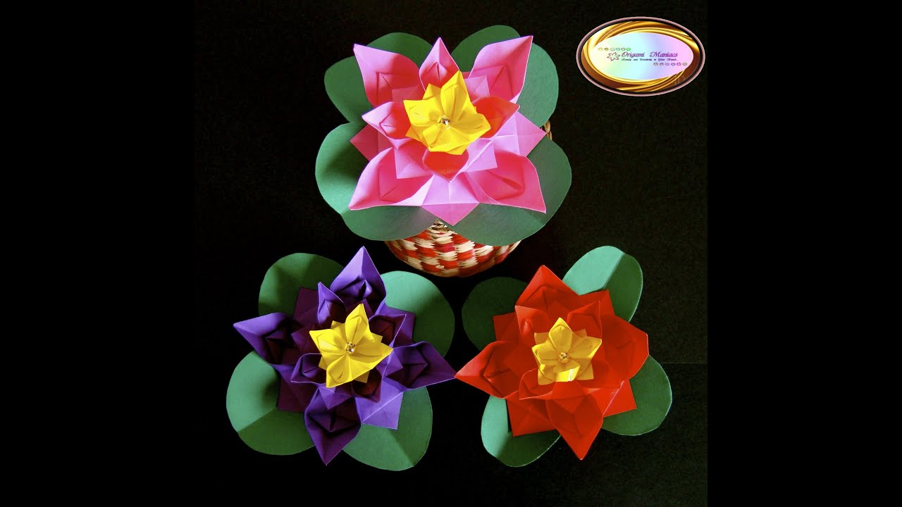 Origami Maniacs 122 Cute Origami Flower Youtube