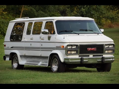 1992 gmc vandura 2500 auto form conversion van rv white. Black Bedroom Furniture Sets. Home Design Ideas