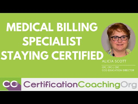 Medical Billing Specialist Staying Certified