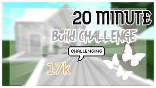 20 minute bloxburg BUILD challenge I MDreamz Gaming