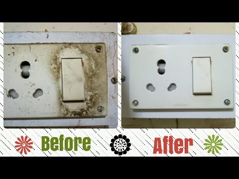 How to clean switch board at home | Switch board ki safai | quickly clean switch board | Toy N Joy