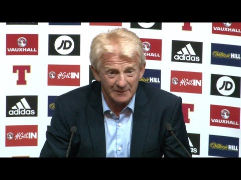 Scotland 2-2 England - Gordon Strachan Full Post Match Press Conference