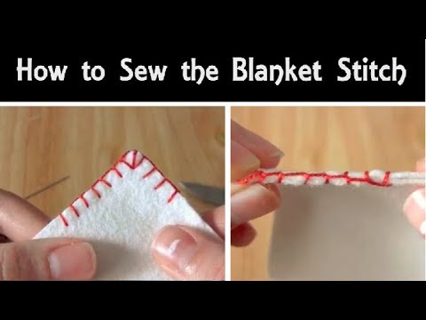 how to sew the blanket stitch hand sewing tutorial for beginners corner stitching youtube. Black Bedroom Furniture Sets. Home Design Ideas