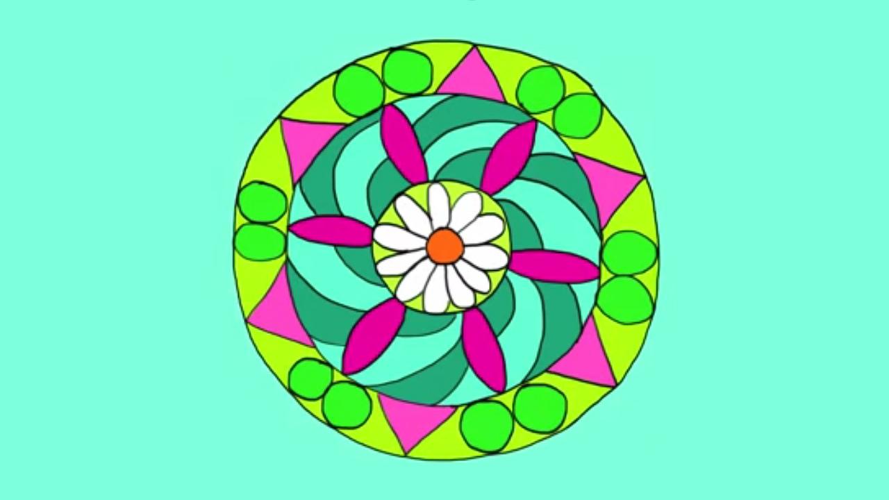 Apprendre à Dessiner Un Mandala Youtube