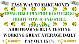 MONETIZE COIN IS BOOMING! MNZ PRICE $5.50? (ARB) ARBITRAGING COIN REVIEW | ARBITRAGE & TRADING