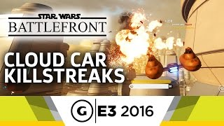 Star Wars Battlefront Bespin Cloud Car Dogfighting Gameplay - E3 2016