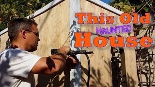 Crackle Painting & Aging Wood Trim For Haunted House
