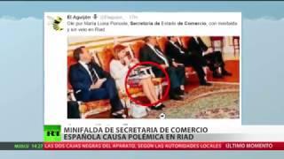 Polémica: Una política española asiste vestida de minifalda a encuentros oficiales en Arabia Saudita