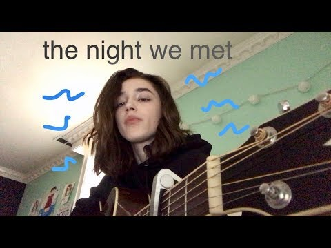 the night we met (cover)
