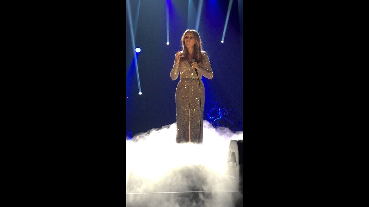 Download Celine Dion Breaks Down In Tears All by Myself 23 02 16 First Concert After Husbands Passing
