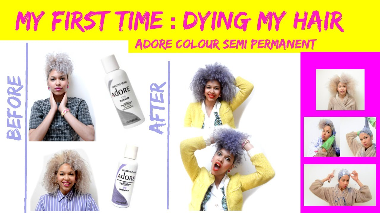 My First Time Dying My Hair With Adore Colour Semi Permanent