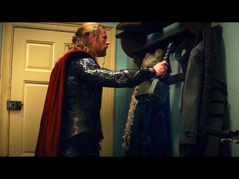 Thor Hangs His Hammer On Coat Rack (Scene) Thor: The Dark World (2013) Movie CLIP HD