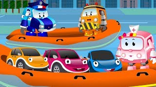 Super Squad Team Rescue Baby Cars from City flood | Kids Car Cartoon Rhymes