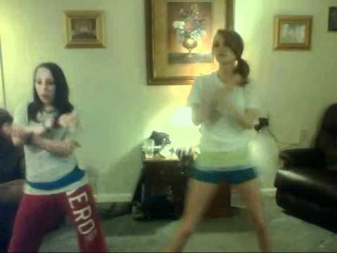 the white t gurls 2 doin a diff version of wobble.... no rude comments!!!