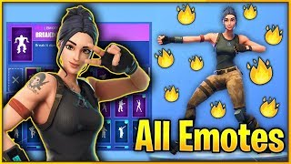 All Of my Emotes on *EXCUSIVE* CHINESE DEFAULT Skin! (Exclusive Default Skin!)