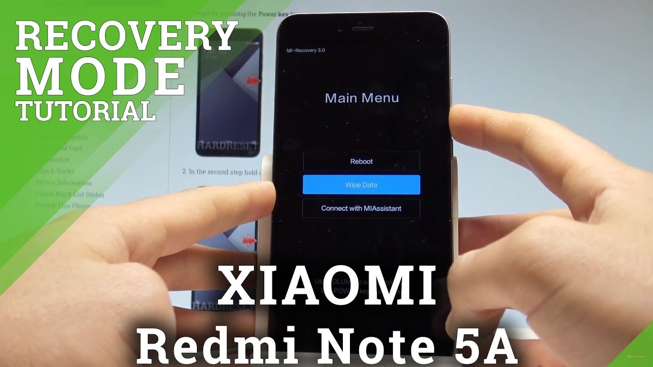 Recovery Mode XIAOMI Redmi Note 5A Prime - HardReset info