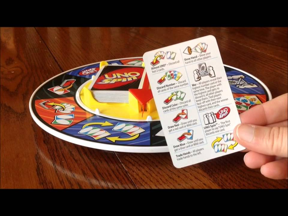 Uno Spin Card Game Basics Youtube