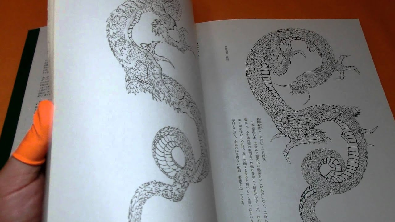 How To Draw Japanese Dragon Ryu Picture Book Japan Tattoo Painting ϼ�0771)