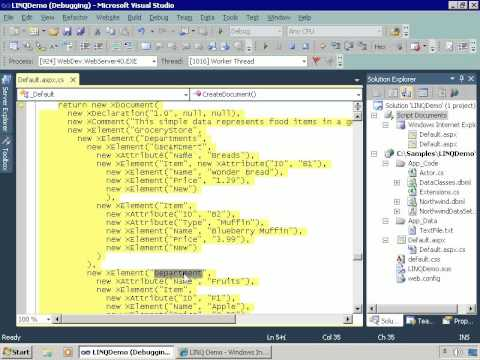 02  LINQ to DataSets XML