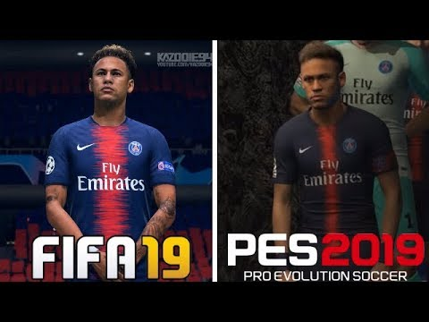 FIFA 19 VS PES 2019 | Graphics Comparison