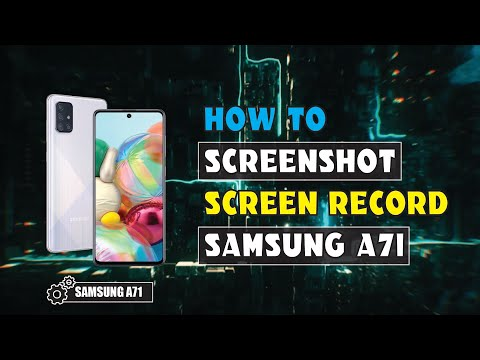 SAMSUNG A71|A51 How to take a SCREENSHOT|SCREEN RECORD
