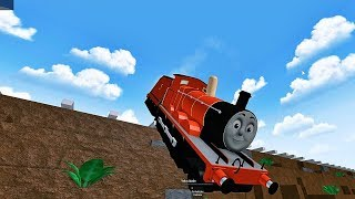Thomas New Engines Drive Thomas and Friends Off a Cliff and Falls into the Water Roblox