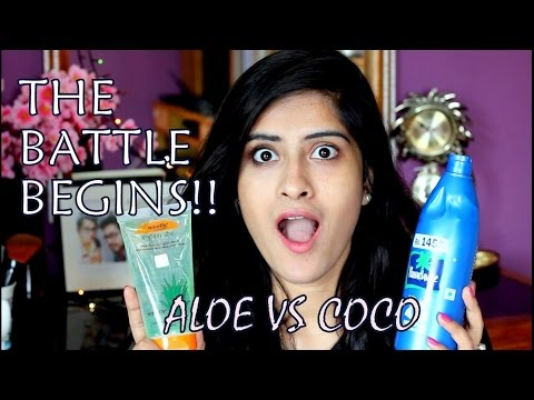 COCONUT OIL vs  PATANJALI ALOE VERA GEL AS MAKEUP REMOVER!!|| TESTED!!||DebleenaBiswas