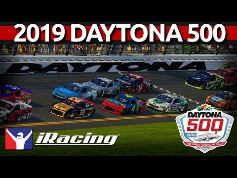 2019 DAYTONA 500 IRacing Full Race - With LIVE Spotter!