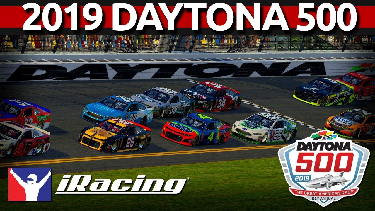 2019 DAYTONA 500 iRacing Full Race - with LIVE spotter!