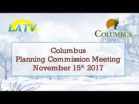 Columbus Planning Commission Meeting - November 15th 2017