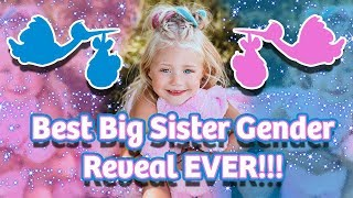 BEST BIG SISTER GENDER REVEAL EVER!!! (BOY OR GIRL?)